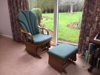 Luxury, stylish rocking chair & accompanying foot rest