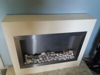 Modern Electric Freestanding Fire with Removable coals - Full Working Order