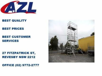 NEW Double Width Aluminium Mobile Scaffold: 6.8m High!
