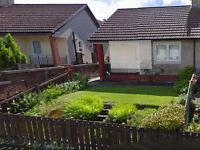 1 bedroom semi detached house back & front gardens looking for nearer Rutherglen
