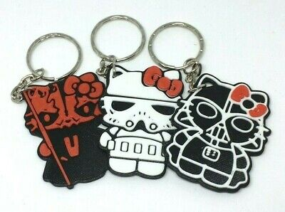 Hello Kitty Star Wars Mashup Key Rings - Darth Vader, Stormtrooper, Darth Maul](Hello Kitty Stormtrooper)