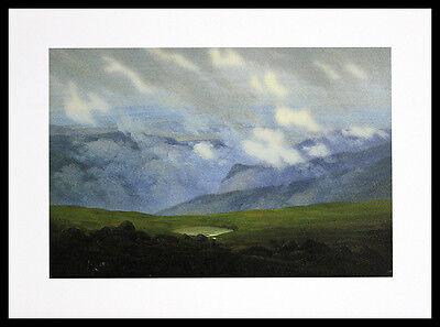Caspar David Friedrich Ziehende Wolken Poster Bild Kunstdruck und Rahmen 30x40cm