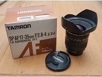 Tamron 17-35 lens (Nikon fit) - Excellent condition