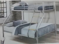 🎆💖🎆BEST SELLING BRAND🎆💖🎆TRIO METAL BUNK BED FRAME DOUBLE BOTTOM & SINGLE TOP HIGH QUALITY