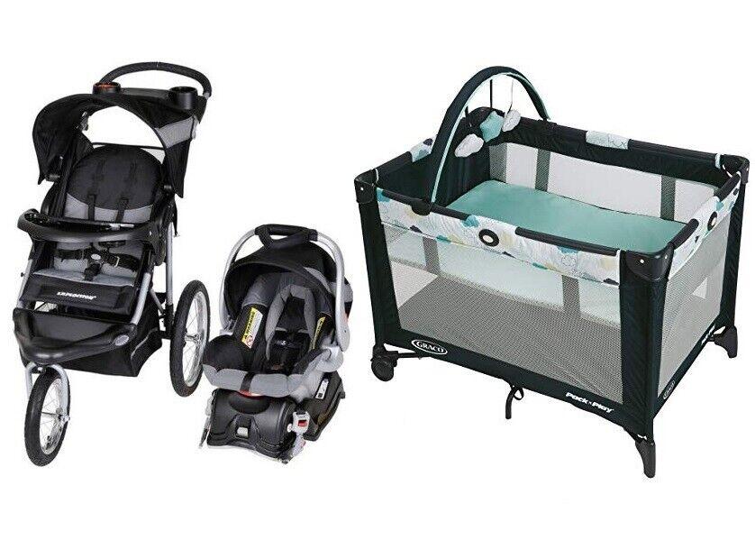 Baby Jogger Stroller Car Seat Infant Playard Newborn Combo T