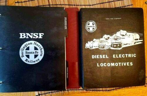 2 Railway Santa Fe Burlington Operating Manuals Diesel Electric Locomotives 1971