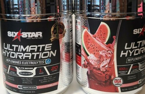2 PACK Six Star Ultimate Hydration 50 servings, Watermelon exp:10/2021