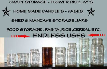 Fowlers Vacola Preserving Jars - heaps available - many sizes