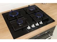 Russell Hobbs Glass hob with 4 Gas Burners - NEVER USED