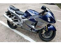 suzuki hayabusa gsx 1300r blue/silver