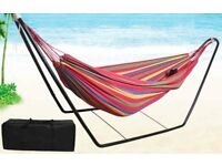 Hammock + Stand + Storage/Carry Bag for sale. New & Unused