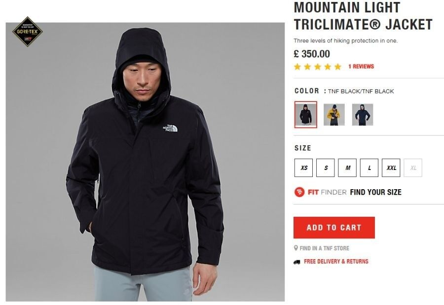 The North Face Mountain Light Tri-Climate 3-in-1 Jacket Gore-tex Cost £300  NO OFFERS 15751c71a