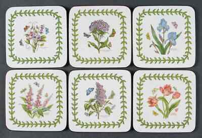 - Portmeirion BOTANIC GARDEN Set of 6 Square Corkback Coasters 8835163