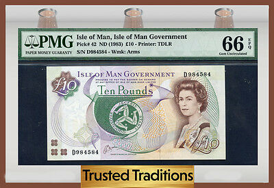 Tt Peel (TT PK 42 1983 ISLE OF MAN 10 POUNDS