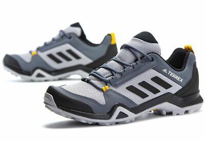 Adidas Mens Terrex AX3 Hiking  Walking Shoes Outdoor Grey EF0533 UK 7.5 to 9.5