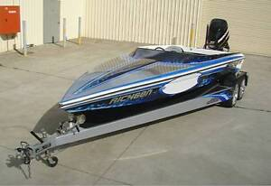 FORCE F19X SKI RACE BOAT 300hp V6 MERCURY XS Spring Farm Camden Area Preview