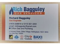 GAS & PLUMBING. NG11 Areas,Corgi Gas Safe,New Gas pipe Upgrades,Combi Repairs,Gas Services £55.