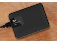 WD 2TB Black My Passport Ultra Portable External Hard Drive - USB 3.0 - EXCELLENT