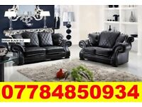 BRAND NEW CHESTERFIELD STYLE DIANA SOFA IN BLACK