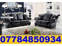 BRAND NEW ITALIAN LEATHER CHESTERFIELD MODEL DIANA 3+2 SOFA + DELIVERY