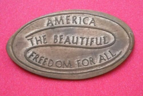 America The Beautiful elongated penny USA cent Freedom For All souvenir coin
