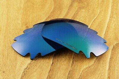 Ocean Blue Green Polarized Vented Mirrored Replacement Lenses for Oakley (Oakley Jawbone Green)