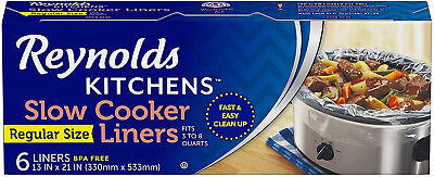 - Slow Cooker Liners 13 x 21 by Reynolds Crock Pot Bags Mess Free Easy Clean Up
