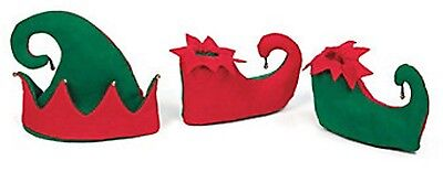 3pc Elf Shoes Hat Costume Set Brand New Sealed Santa's Helper Outfit TREE Decor
