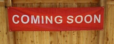 Coming Soon Opening Now Open Banner Sign Flag New Restaurant Store Advertising