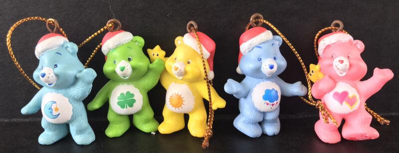 Vintage Care Bears Christmas Ornaments Set Of 5 American Greetings 2005