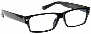UV-Reader-Reading-Glasses-Mens-Womens-Wayfarer-Style-Black-UVR006
