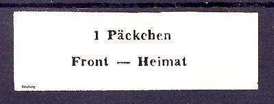 Päckchen-Zulsassungsmarke K. Brückenkopf 1943 MiNr. 14 (*) Fälschung