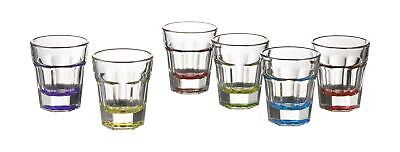 Style Setter Breve Colors Shot Glasses (Set of 6), Multicolor