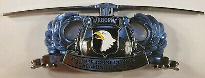 """101st Airborne Division Screaming Eagles US Army Challenge Coin 4"""" t 136"""