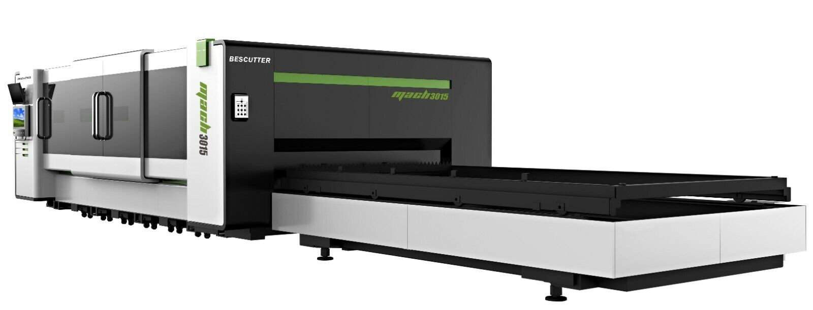 NEW BESCUTTER MACH SPEED 6-15KW 5'X10' IPG FIBER LASER CUTTER FULLY ENCLOSED