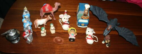 VINTAGE & MODERN MISCELLANEOUS LOT SCOOBY LIGHTER CHRISTMAS DRAGON LUCY SCHULTZ