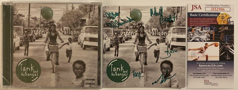 Tank And The Bangas Signed Autographed Green Diamond CD Booklet With New CD JSA