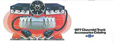 Chevrolet Truck Accessories Brochure - 1977 CHEVROLET TRUCK  GENUINE ACCESSORIES BROCHURE-COVERS ALL CHEVY TRUCK MODELS