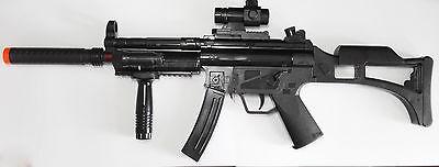 Toy Machine Gun MP5 w/ Silencer & Grip Battery Powered Submachine with Gun - Toy Submachine Gun