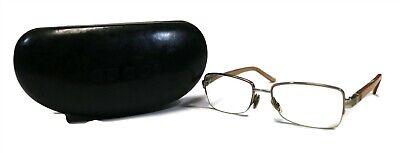 VINTAGE GUCCI Tan & Rhinestone Prescriptions Frames Glasses 130 W/ Case