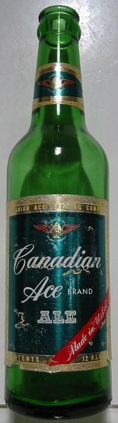 1950's~Bottle~Canadian Ace Ale~Chicago, IL