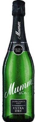 6 Flaschen Mumm extra dry Sekt 11,5% vol. elegant & extra trocken dry Sekt