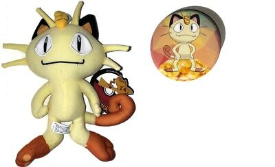 Meowth 8 inch plush toy with pin! officially licensed Pokemon Plush