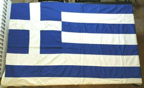 Greece Vintage Greek Cotton Flag 180x110cm Made by Giova