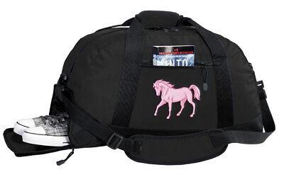 Pink Horse Duffel Bag BEST DUFFLE GYM Travel (Broad Bay Cotton Horses)