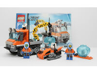 Lego City 60033 & 60032 Arctic Ice Crawler & Snowmobile and sledge. 100% comple