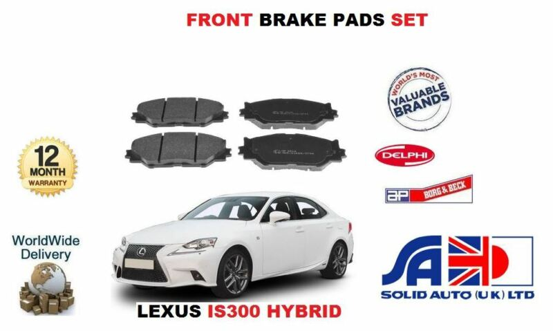FOR LEXUS IS300 HYBRID 2013->NEW FRONT BRAKE PAD SET OE 04465-53020