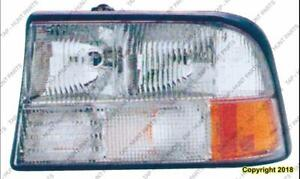 Head Light Driver Side Without Integral Fog Light GMC Sonoma 1998-2004