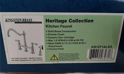 == Kingston Brass Heritage Collection Kitchen Faucet Chrome Finish KS1271ALBS