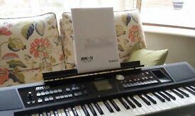 roland bk-5 backing keyboard, music rest, power pack, manual. mint. hardly used.